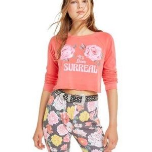 Wildfox It's Been Surreal Beach House Crop Sz SML